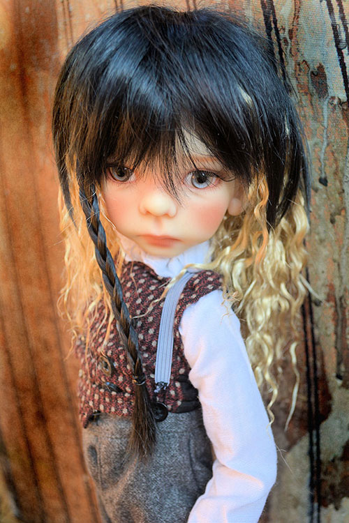 Rivia wig in evening glow for bjd