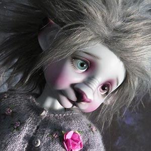 Beastie light grey by Tracy P