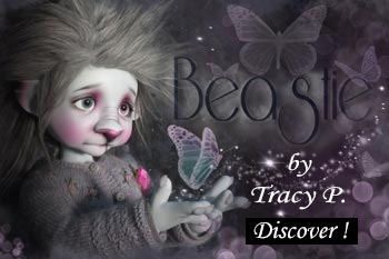 beastie light gray by Tracy P