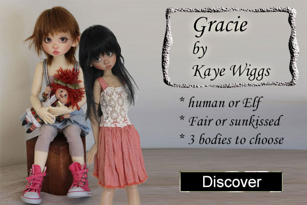 Gracie Elf & human by kaye wiggs